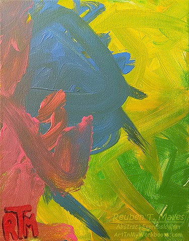 Hot Love #2 original acrylic canvas painting