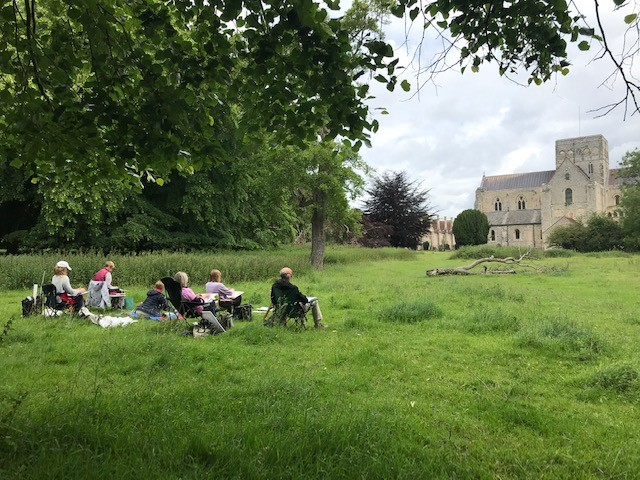 Plein air, drawing and painting at St Cross Hospital
