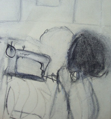 drawing, charcoal, rosie parmley, winchester artist, teacher, hampshire, workshops