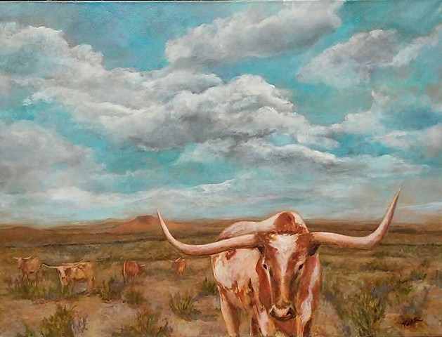 Longhorns Under a Big Sky