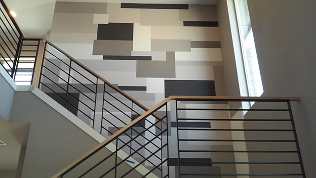 Layered Rectangles, Stairwell, Mainvue Homes, McKinney, Texas