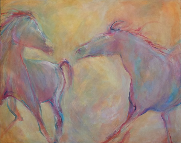 Horse Triptych - middle