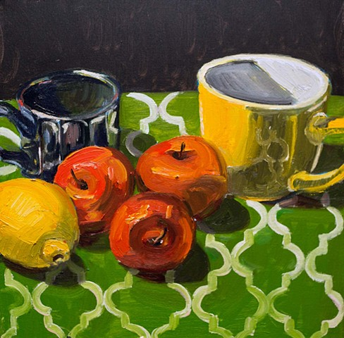 Cups and Fruit