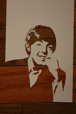 Paul McCartney Stencil