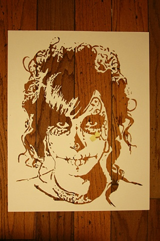 Day of the Dead Stencil 3