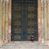 Tiny Lady Big Door