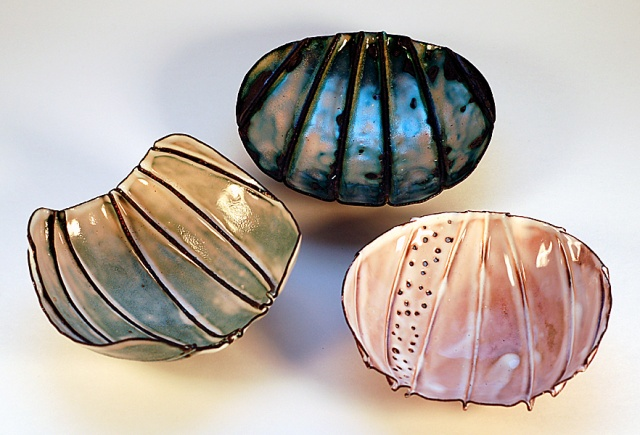 Fold Formed Enamel Bowls