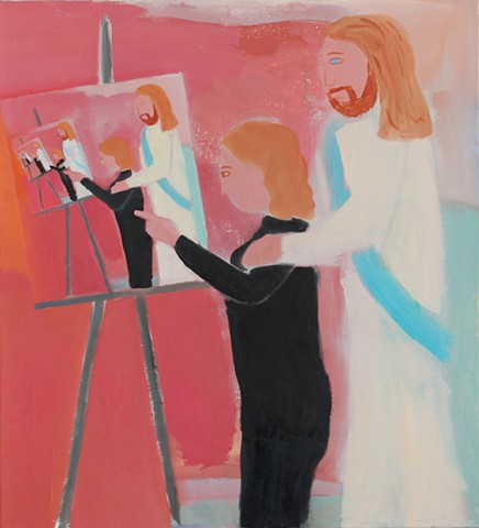 Untitled (figure and Jesus)