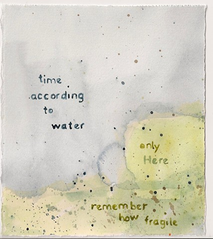 time according to water