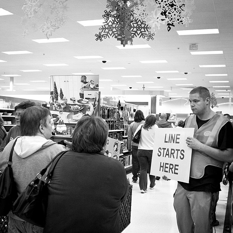 Black Friday, Target, Line Starts HERE
