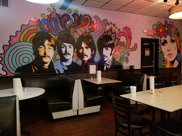 """The Beatles"" located at Burger Culture San Antonio Texas."