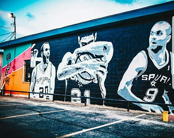Video By Vincent Quaranto:One of my favorite local artists painted a Spurs mural