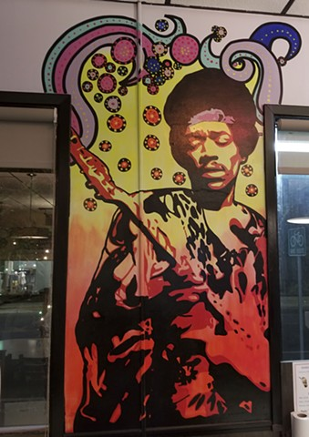 """Hendrix"" Inside Burger Culture in San Antonio Texas."