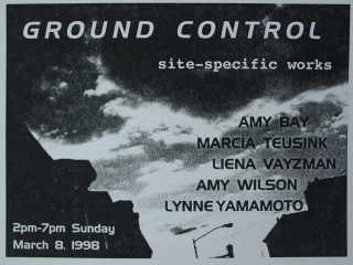 Documentation: Ground Control exhibition, organized by Liena Vayzman, Brooklyn NY.