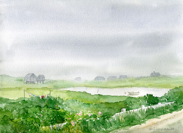 watercolor of Nantucket
