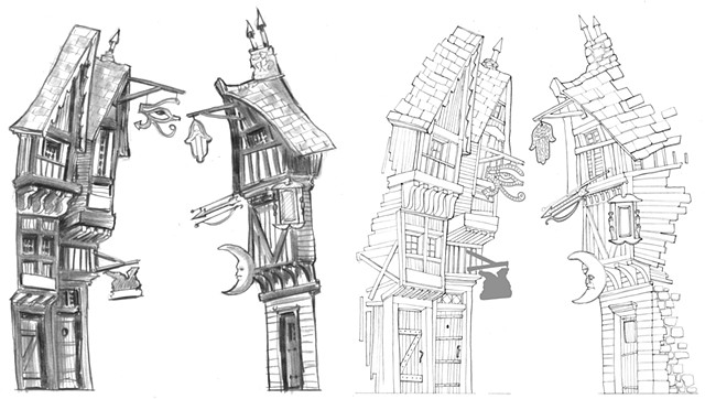 Something Rotten! Soothsayer Alley (development sketches)