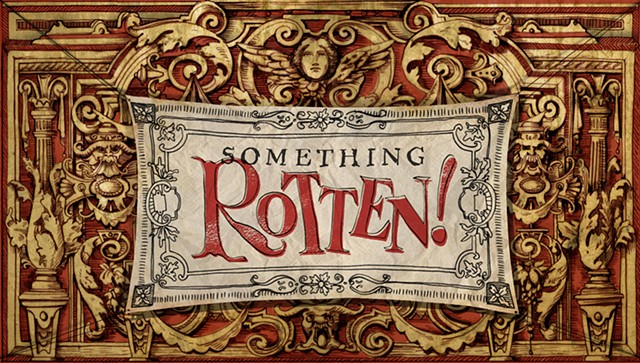 Something Rotten! Show Curtain