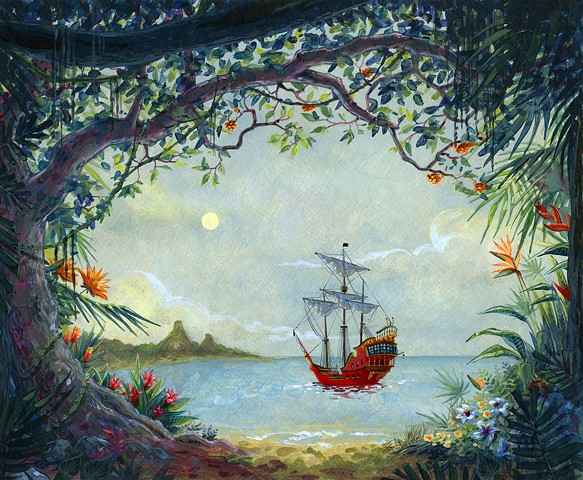 Finding Neverland Peter Pan Backdrop