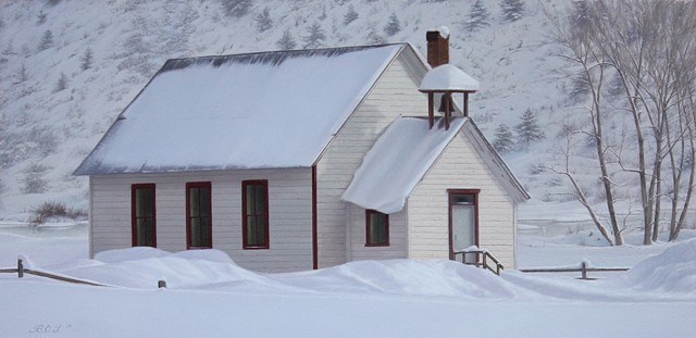 """Emma School House In Winter"""