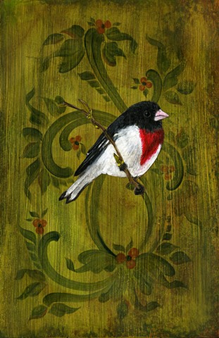 Grosbeak and Foliage