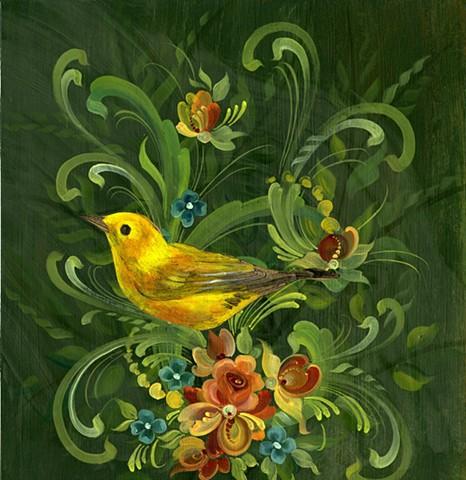Finch in Spring