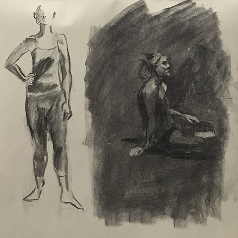 High School Life Drawing