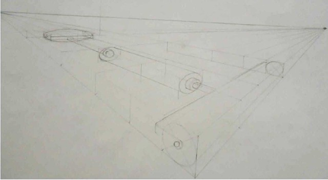 Drawing 1 / Two Point Perspective Caitlin Schmidt