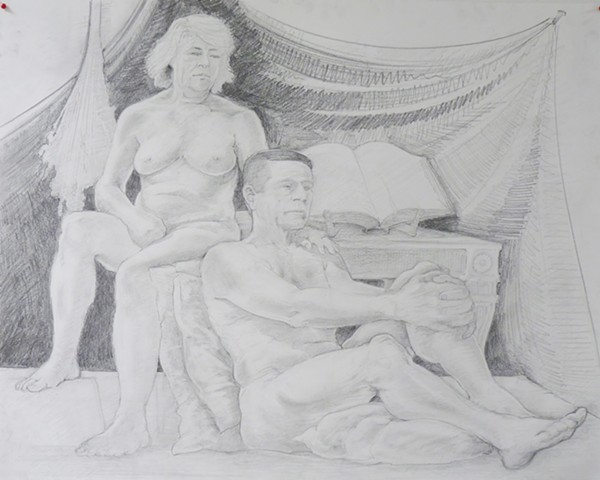 Figure Drawing 1 / Figures in Relationship Zech Poindexture