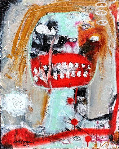 crude things outsider art, expressionism painting, abstract face, art brut, raw art