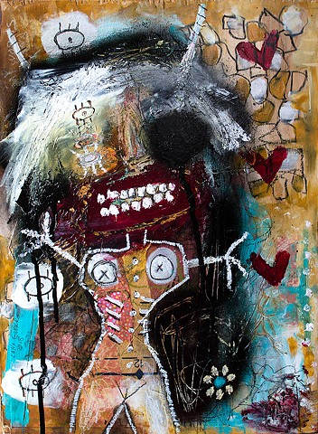 crude things outsider art, art brut painting, raw art, expressionism