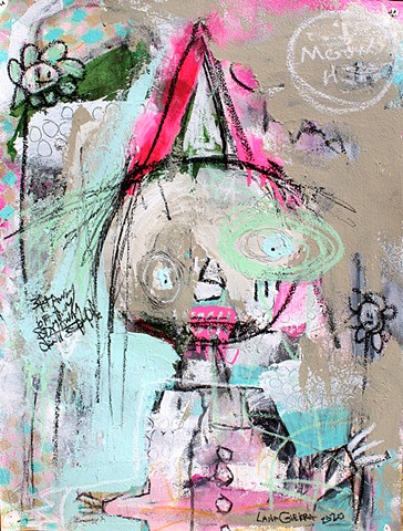 crude things, lana guerra, outsider art, abstract paintin, art brut