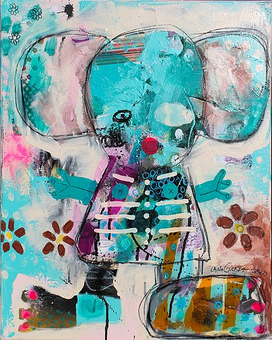 lana guerra, crude things, outsider art, art brut, abstract art, new orleans art, nola art, expressionism, kunst art, cute bear painting, surrealism