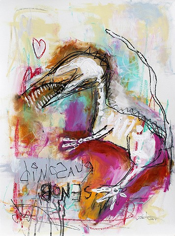 crude things outsider art. abstract dinosaur painting.
