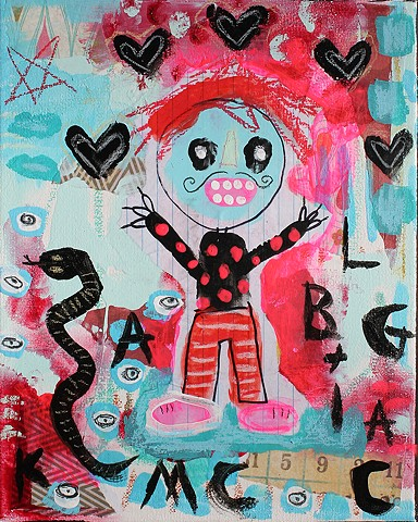 crude things outsider art, black magic, art brut painting, abstract art