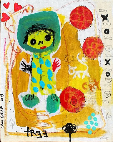 crude things, outsider art, lana guerra, kunst art art brut, playful art, childlike art