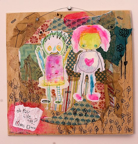 childlike outsider art painting