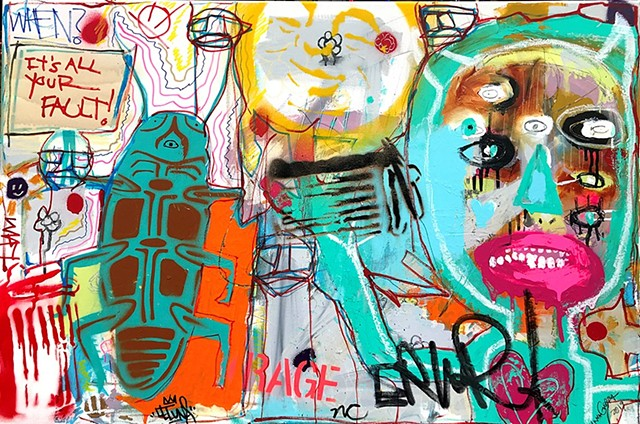 raffiti art, new orleans, crude things, leluna, outsider art, nathan chandler, kunst art, art brut, street art