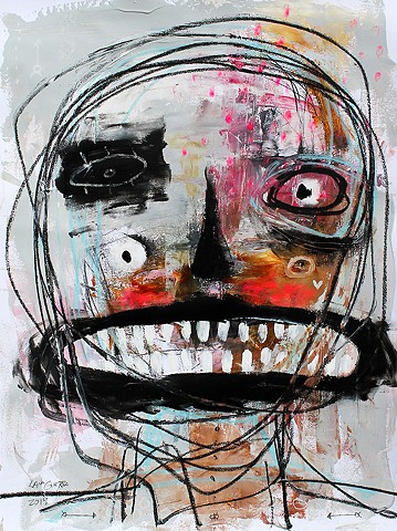 crude things outsider art. raw art, expressionism painting, art brut face