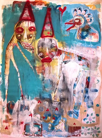 crude things outsider art, lana guerra, art brut, abstract painting, expressionism