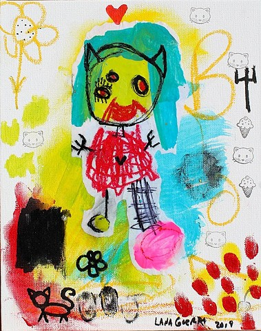 crude things, lana guerra, childlike art, outsider art, playful art, art brut, kunst art