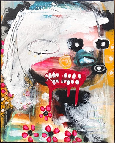 crude things, lana guerra, outsider art, art brut, expresionism, abstract portrait painting