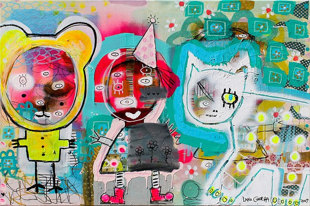crude things, outsider art, childlike art, art brut, graffiti art, abstract animal painting