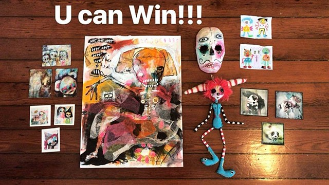 Enter to WIN an original Painting, Doll, or Mask!