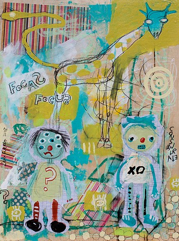 crude things outsider art, childlike art, art brut giraffe painting