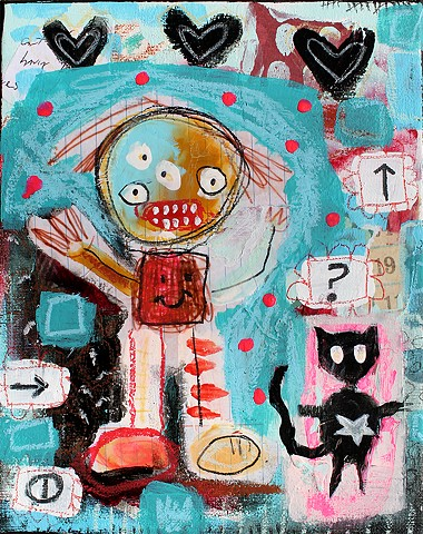 crude things outsider art, art brut, abstract painting
