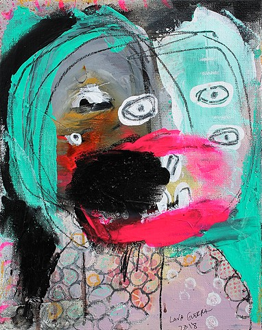 crude things outsider art. art brut face painting. expressionism