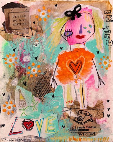 childlike art brut painting