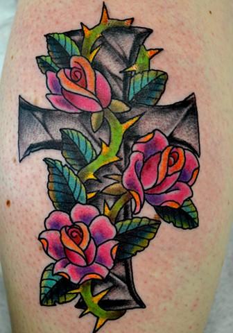 Cross/Roses