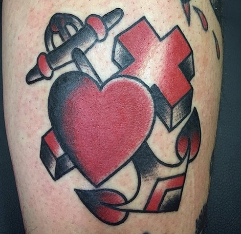 cross anchor heart
