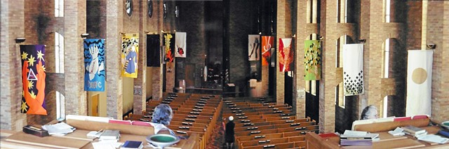 Liturgical installation - Apostles Creed Series of 12 banners